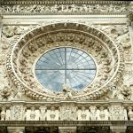 Dettaglio del rosone della Basilica di Santa Croce